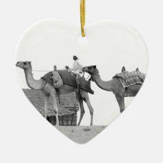 B&W Dubai desert Christmas Ornament