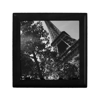 B&W Eiffel Tower 2 Small Square Gift Box