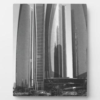 B&W Etihad Towers Plaque