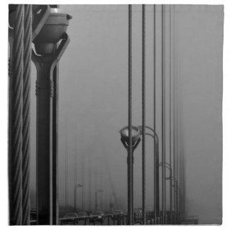 B&W Golden Gate Bridge 2 Napkin
