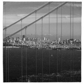 B&W Golden Gate Bridge Napkin