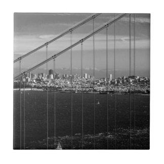 B&W Golden Gate Bridge Tile