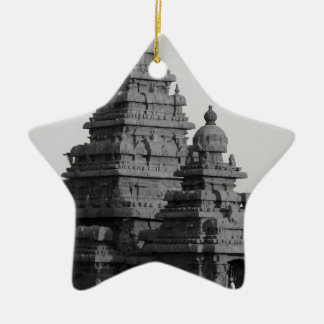 B&W Golden Temple in India Ceramic Star Decoration