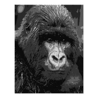 B W Gorilla Face Invites