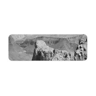 B&W Grand Canyon 3 Return Address Label