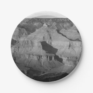 B&W Grand Canyon National Park 4 Paper Plate