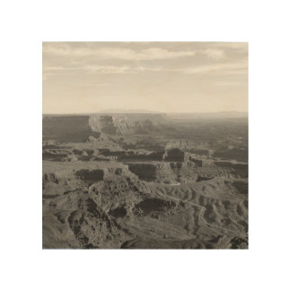 B&W Grand Canyon Wood Print