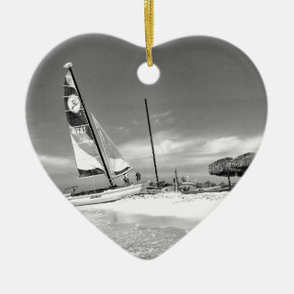 B&W Havana Beach Christmas Ornament