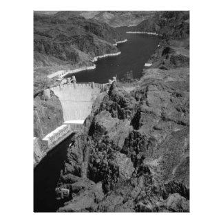 B&W Hoover Dam 21.5 Cm X 28 Cm Flyer