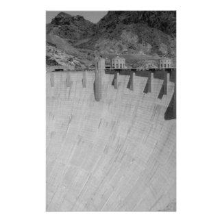 B&W Hoover Dam 2 14 Cm X 21.5 Cm Flyer
