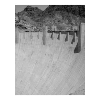 B&W Hoover Dam 2 21.5 Cm X 28 Cm Flyer