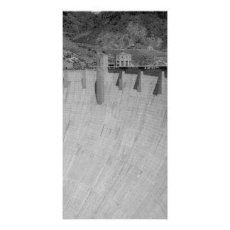 B&W Hoover Dam 2 Custom Photo Card