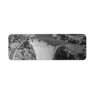 B&W Hoover Dam 3 Return Address Label