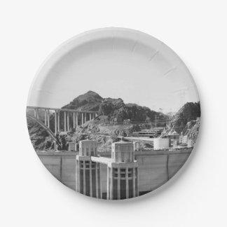 B&W Hoover Dam 5 Paper Plate