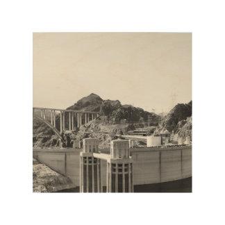 B&W Hoover Dam 5 Wood Print