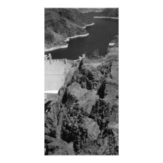 B&W Hoover Dam Personalised Photo Card