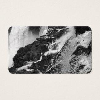 B&W Iguazu Falls Business Card