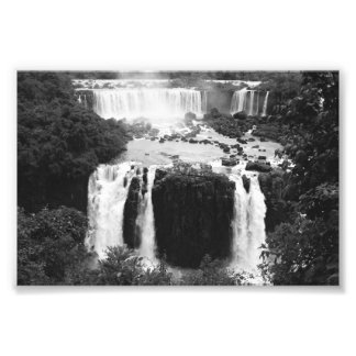 B&W Iguazu Falls Photo