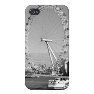 B/W iPhone Case of the London Eye