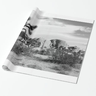 B&W Joshua Tree National Park Wrapping Paper