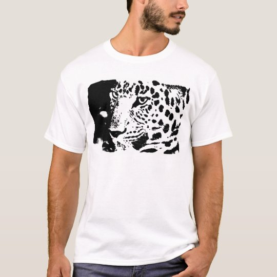 B&W Leopard Eyes T-Shirt