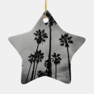 B&W Los Angeles palms Christmas Ornament