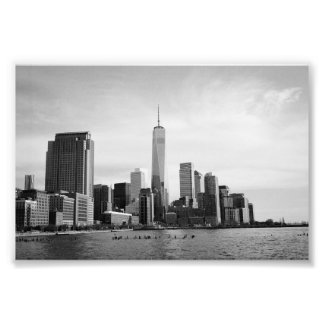 B&W Manhattan Photographic Print