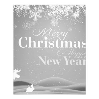 B&W Merry Christmas and Happy New Year 11.5 Cm X 14 Cm Flyer