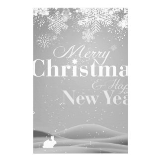 B&W Merry Christmas and Happy New Year 14 Cm X 21.5 Cm Flyer