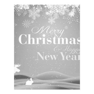 B&W Merry Christmas and Happy New Year 21.5 Cm X 28 Cm Flyer