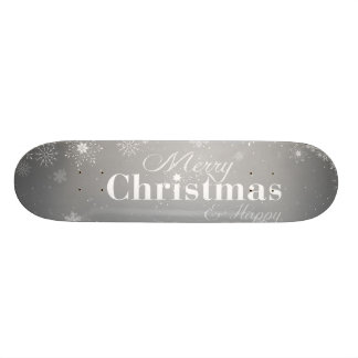 B&W Merry Christmas and Happy New Year 21.6 Cm Skateboard Deck