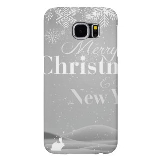 B&W Merry Christmas and Happy New Year Samsung Galaxy S6 Cases