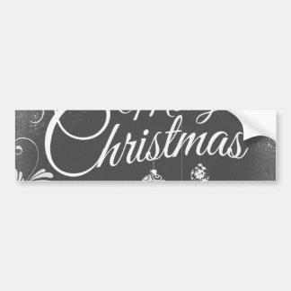 B&W Merry Christmas Bumper Sticker