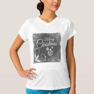 B&W Merry Christmas T-Shirt