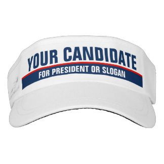 B/W Minimalist Design Custom Election 2016 Visor