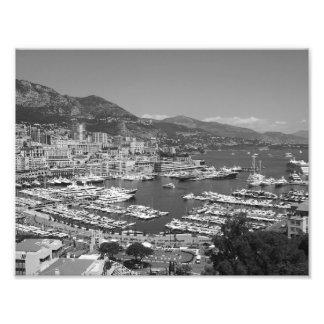 B&W Monaco Photo Print