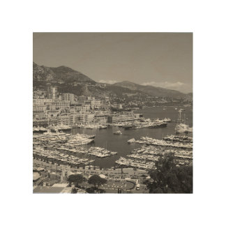 B&W Monaco Wood Print