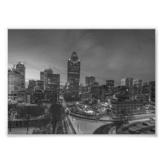 B&W Montreal Photo Print