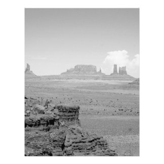 B&W Monument Valley 21.5 Cm X 28 Cm Flyer