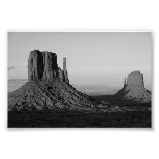 B&W Monument Valley 2 Photographic Print