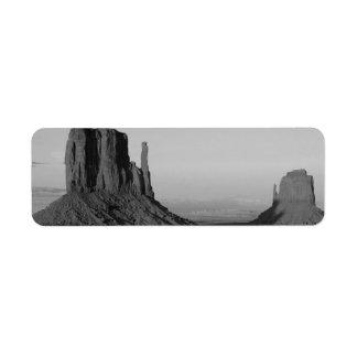 B&W Monument Valley 2 Return Address Label