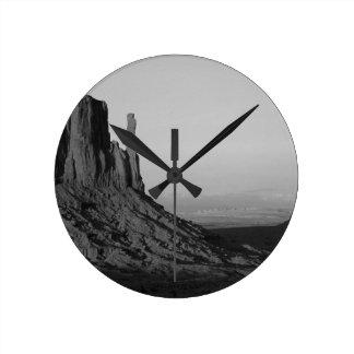 B&W Monument Valley 2 Round Clock