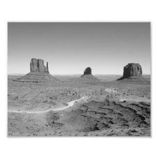 B&W Monument Valley 3 Photo Print