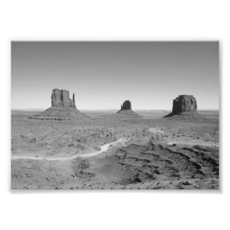 B&W Monument Valley 3 Photo Print