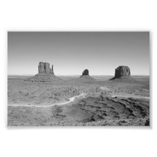 B&W Monument Valley 3 Photograph