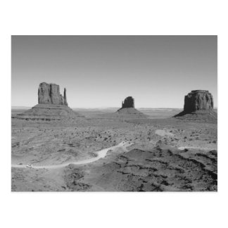 B&W Monument Valley 3 Postcard