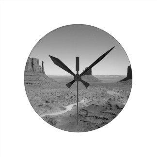 B&W Monument Valley 3 Round Clock