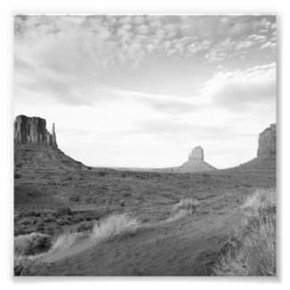 B&W Monument Valley 4 Art Photo