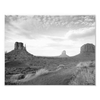 B&W Monument Valley 4 Photo Art