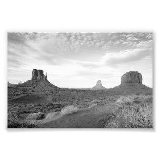 B&W Monument Valley 4 Art Photo
